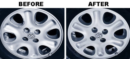 White Wheels Before & After
